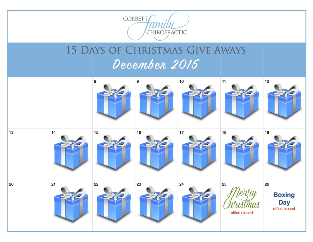 Blank Christmas special calendar