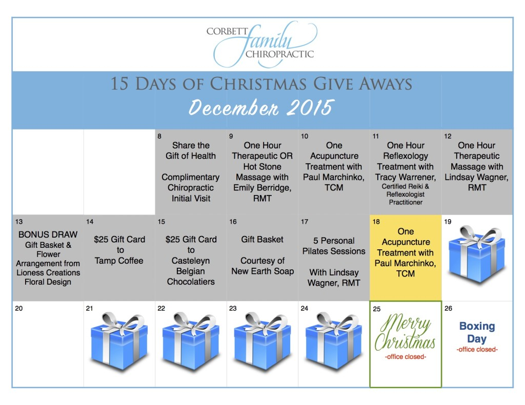 give away calendar DAY 10