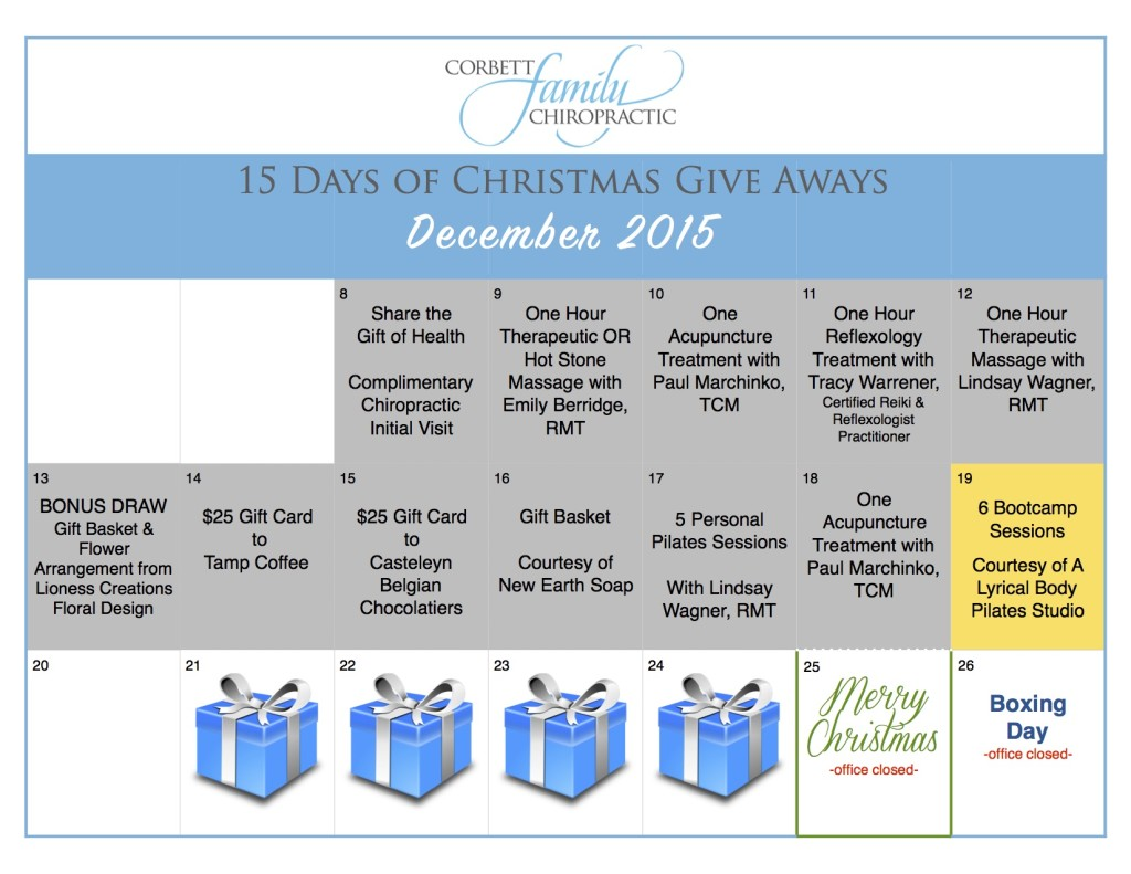 give away calendar DAY 11