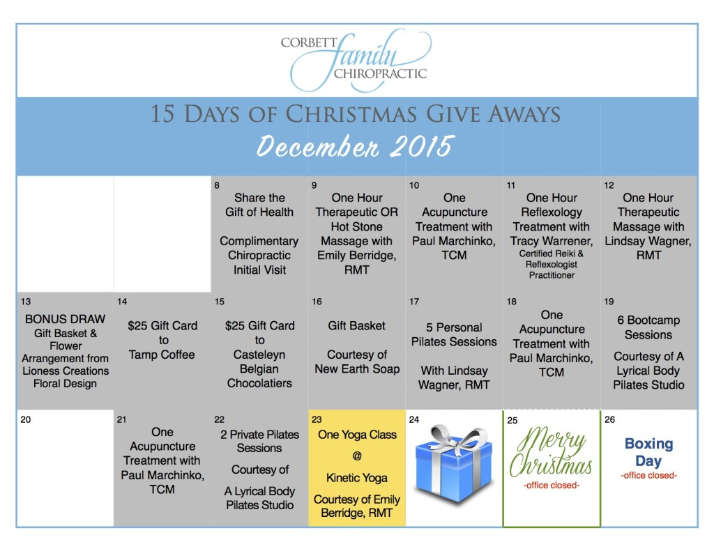 give away calendar DAY 14