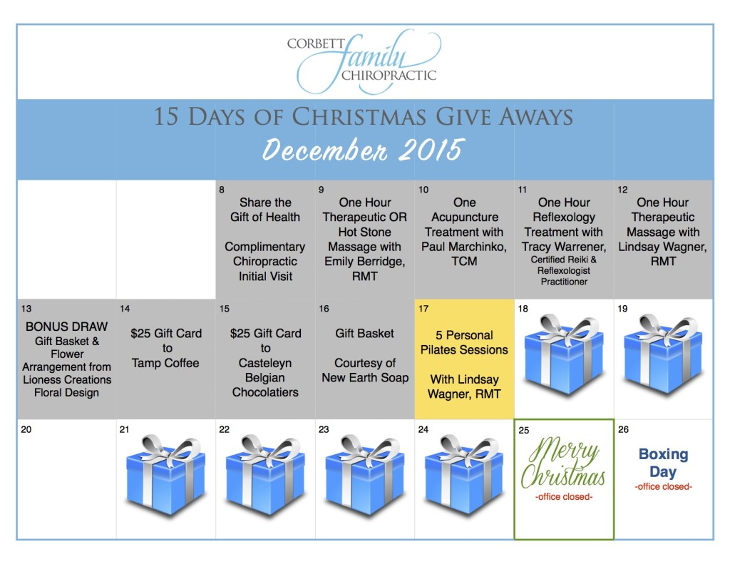 give away calendar DAY 9