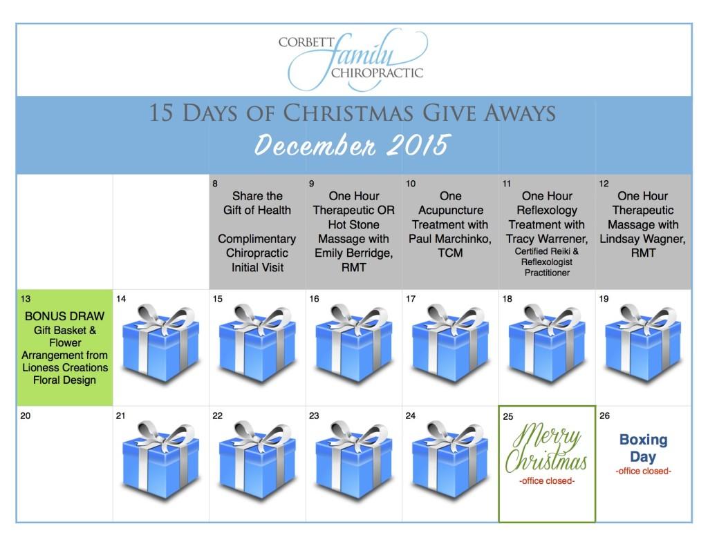 give away calendar SUNDAY BONUS 1